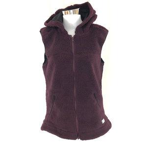 Kavu Womens Vest Hooded Sherpa Full Zip Pockets M